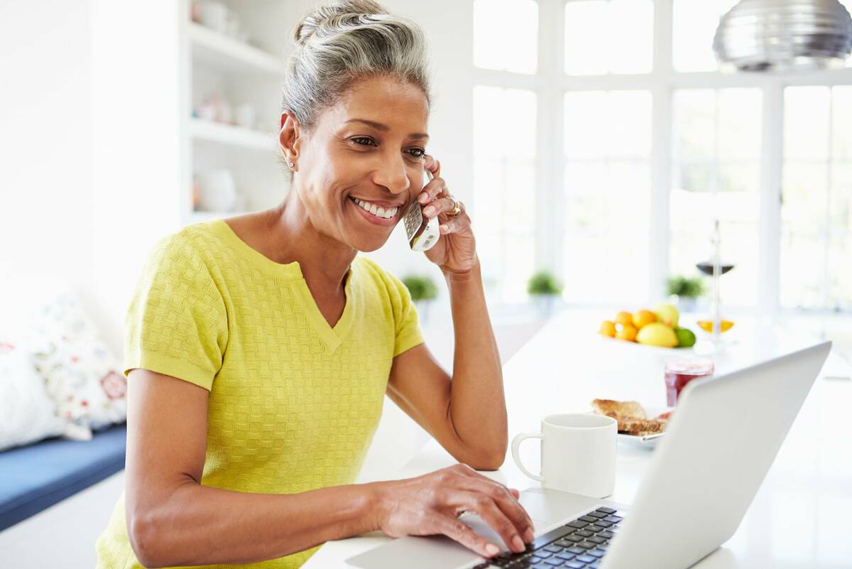 lady completing kitchen finance application