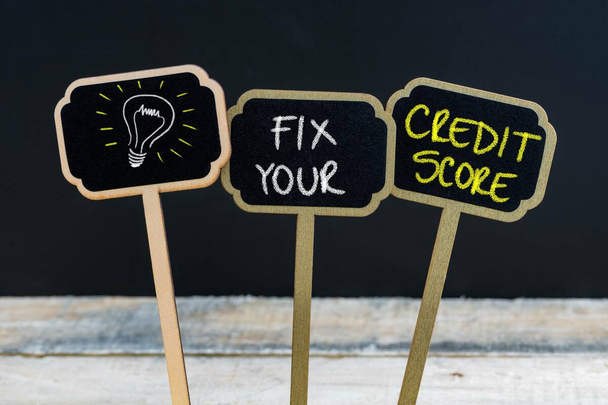 fix your credit score signs